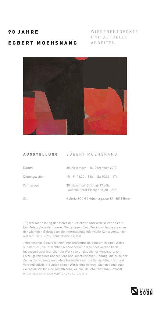 Einladung zur Ausstellung Moehsnang Galerie SOON