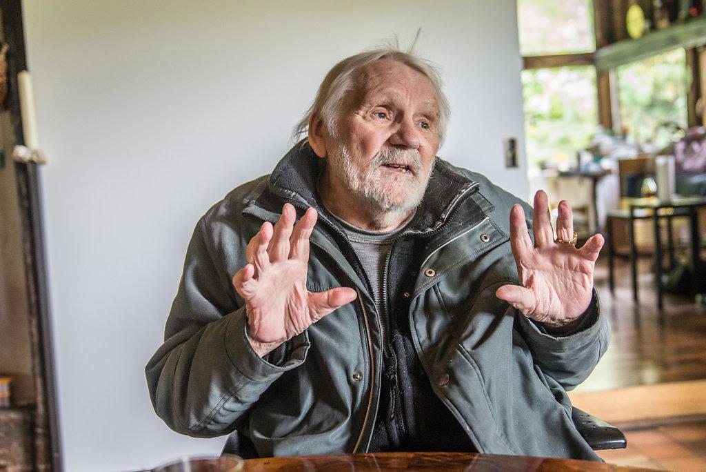 Egbert Moehsnang im Gespräch, September 2015, Fotos Peter Bachmann